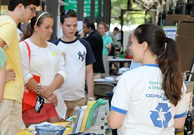 OCRRA participated in Sustainabilty Academy at Blue Rain EcoFest 2011, teaching attendees how to reduce, reuse, recycle and compost in Onondaga County.