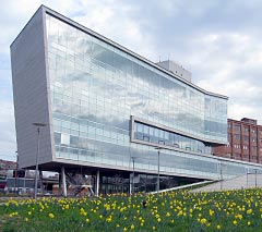 Photo of the LEED Platinum Syracuse Center of Excellence.