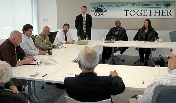 All eyes and ears were on the guest panelists during the first Green Bag Lunch forum that was held on Nov. 15, 2012.